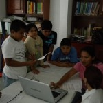 A computer lab for digital storytelling in Campeche, Mexico